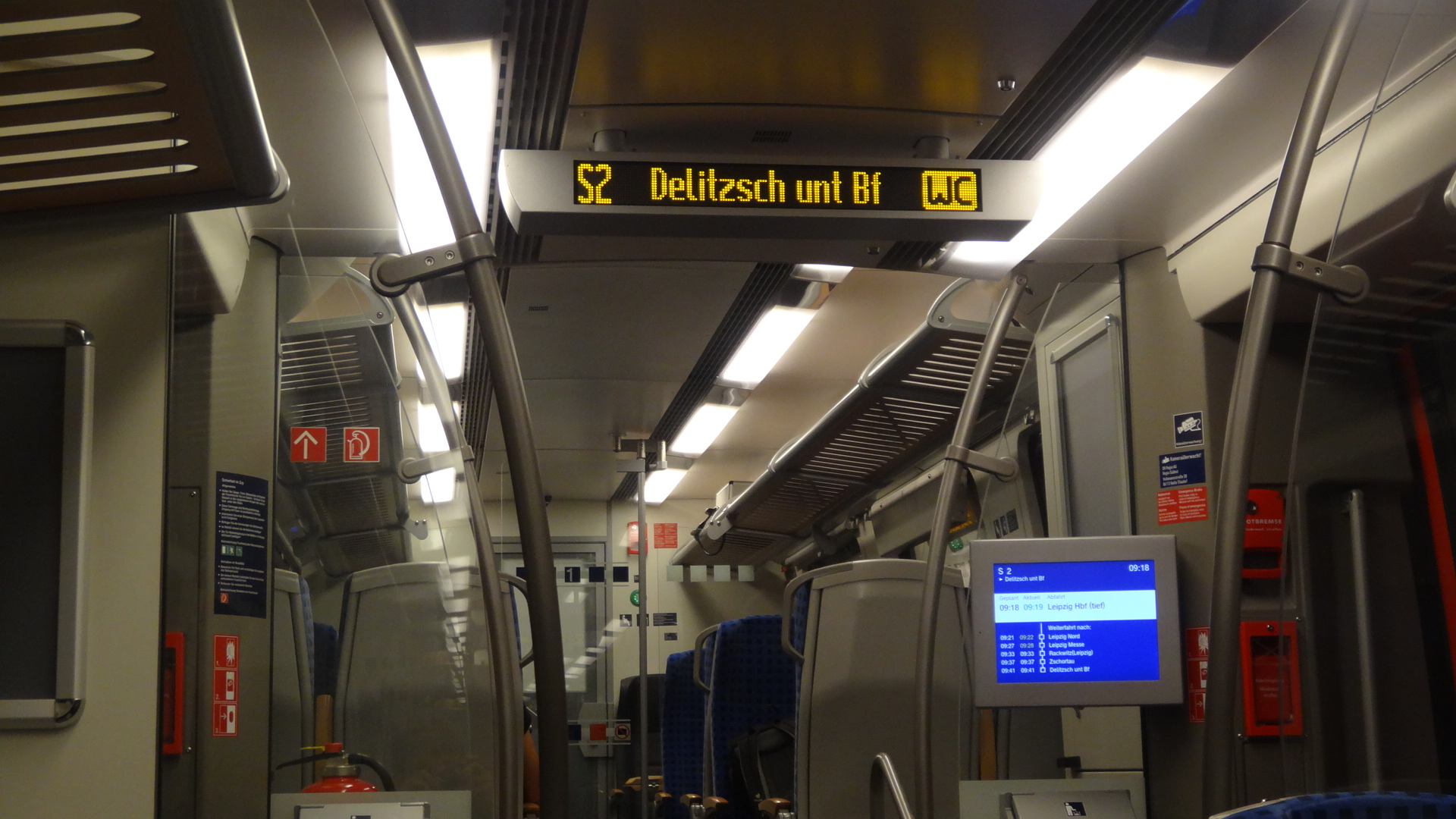 inside S-Bahn to Messe