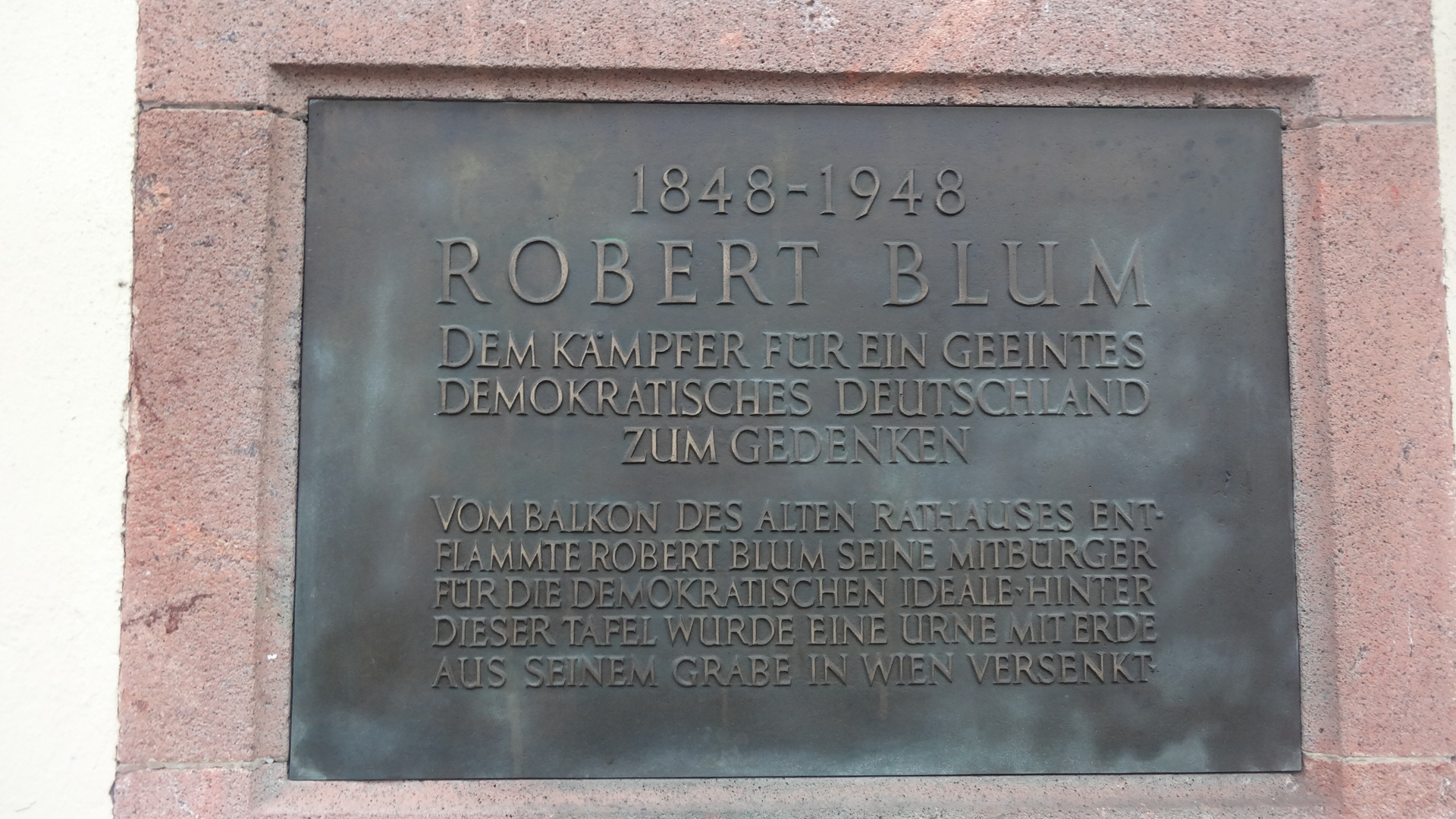 memorial stone for Robert Blum