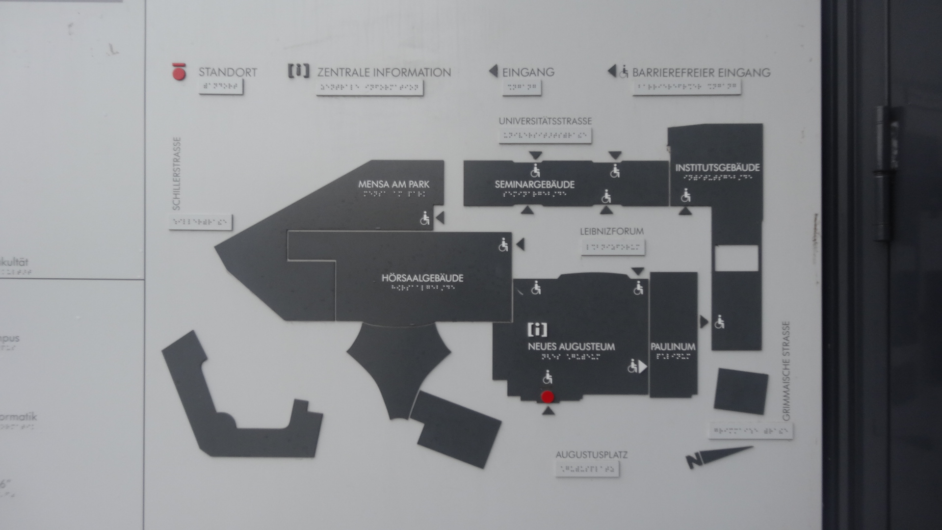 University Leipzig building plan