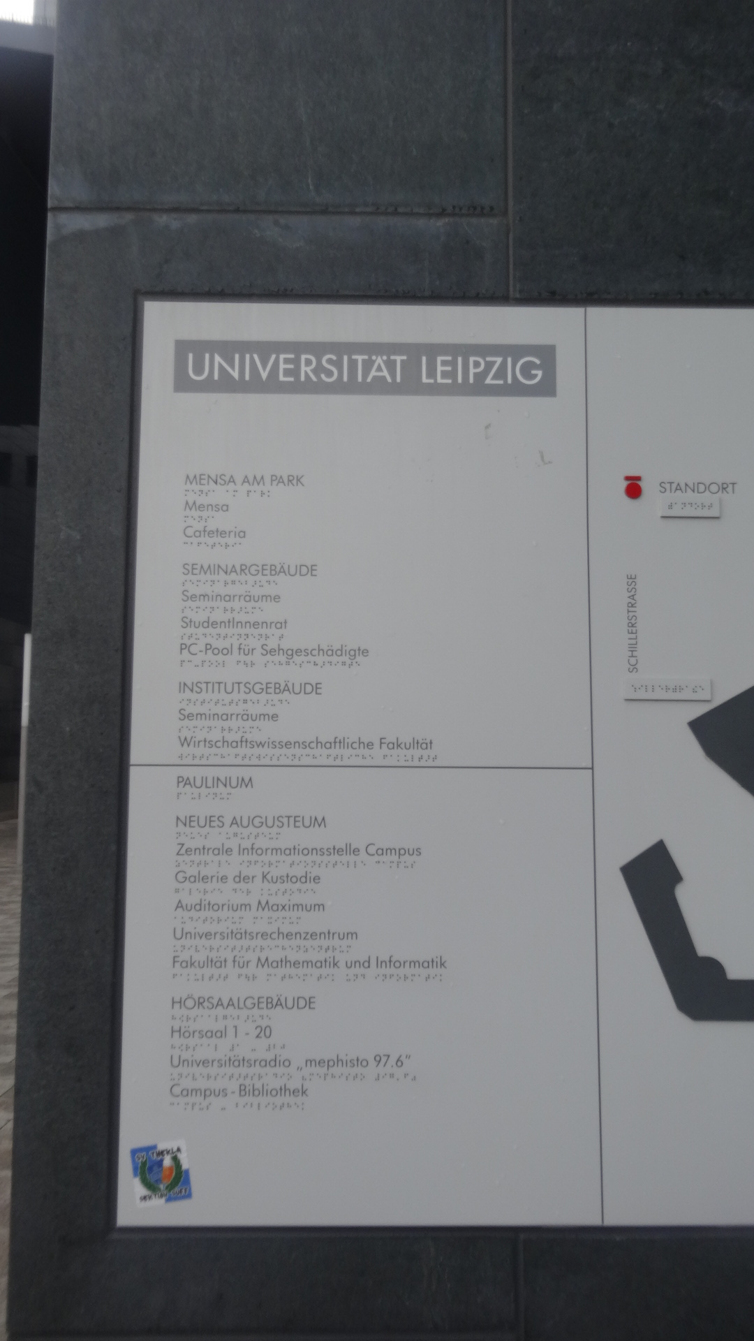 University Leipzig building plan legend