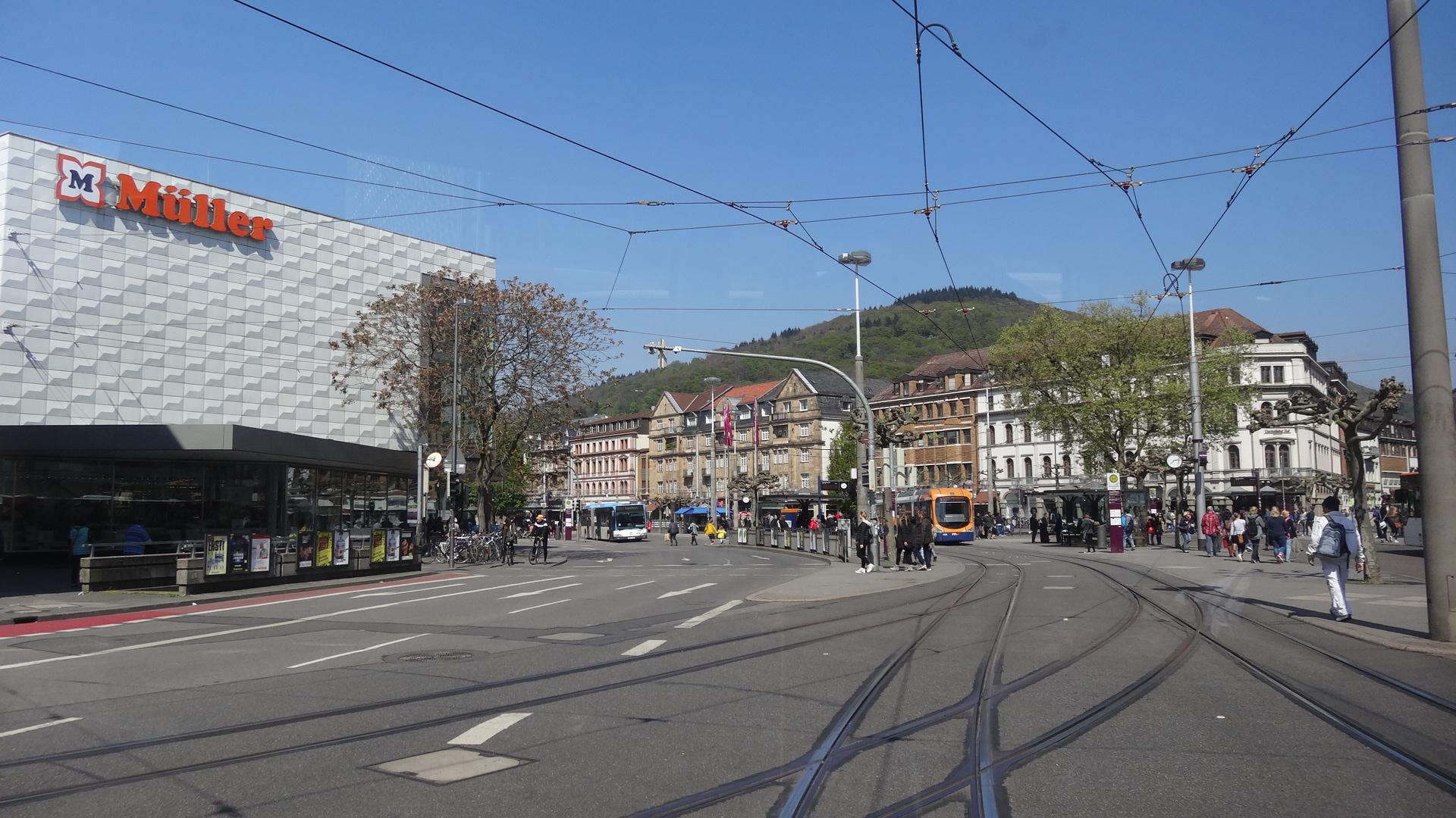 Bismarckplatz aus dem Bus