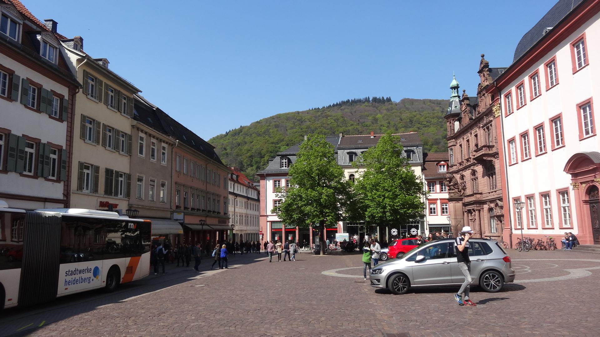 Universitätsplatz Richtung Hauptstraße
