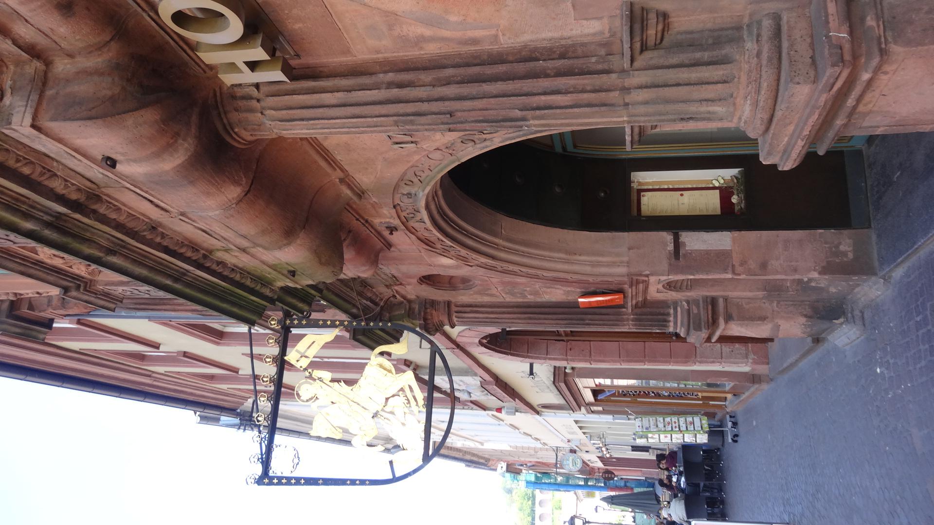 Eingangsportal des Hotels 'Zum Ritter'