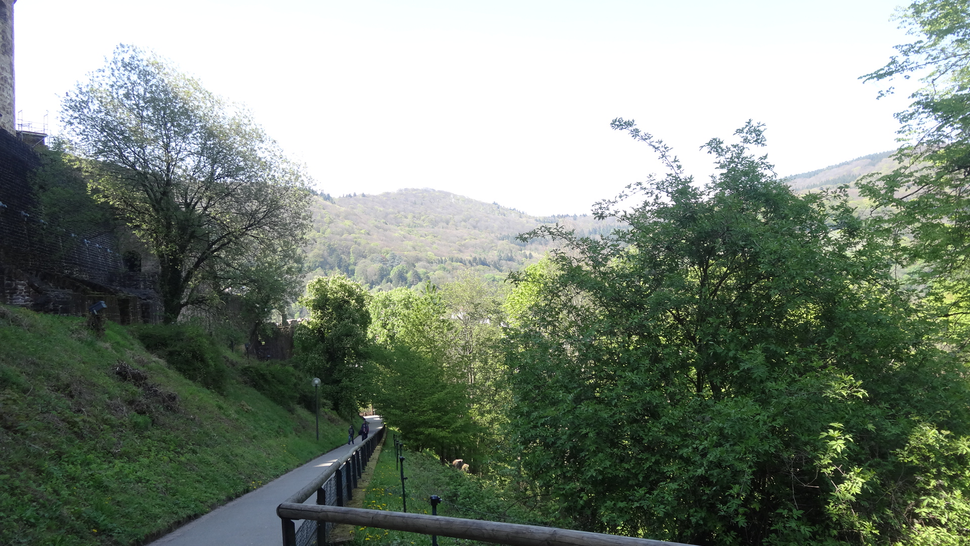 Blick auf den erklommenen Weg