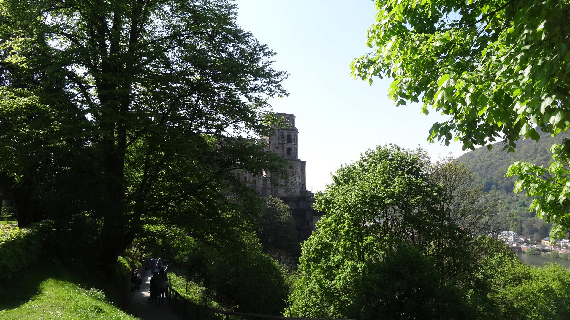 Blick vom Park auf den Schloss