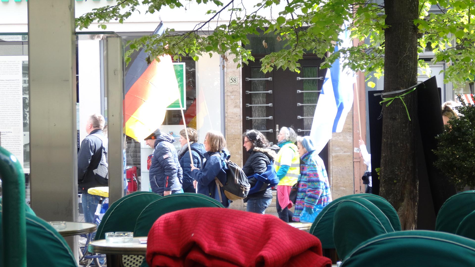Demo für deutsch-israelische Freundschaft