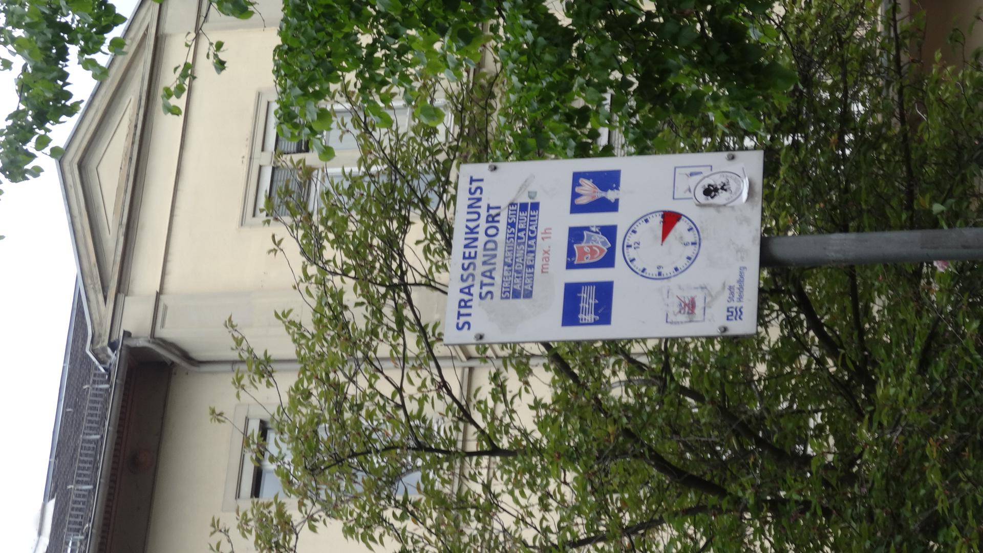 Schild Straßenkunst-Standort