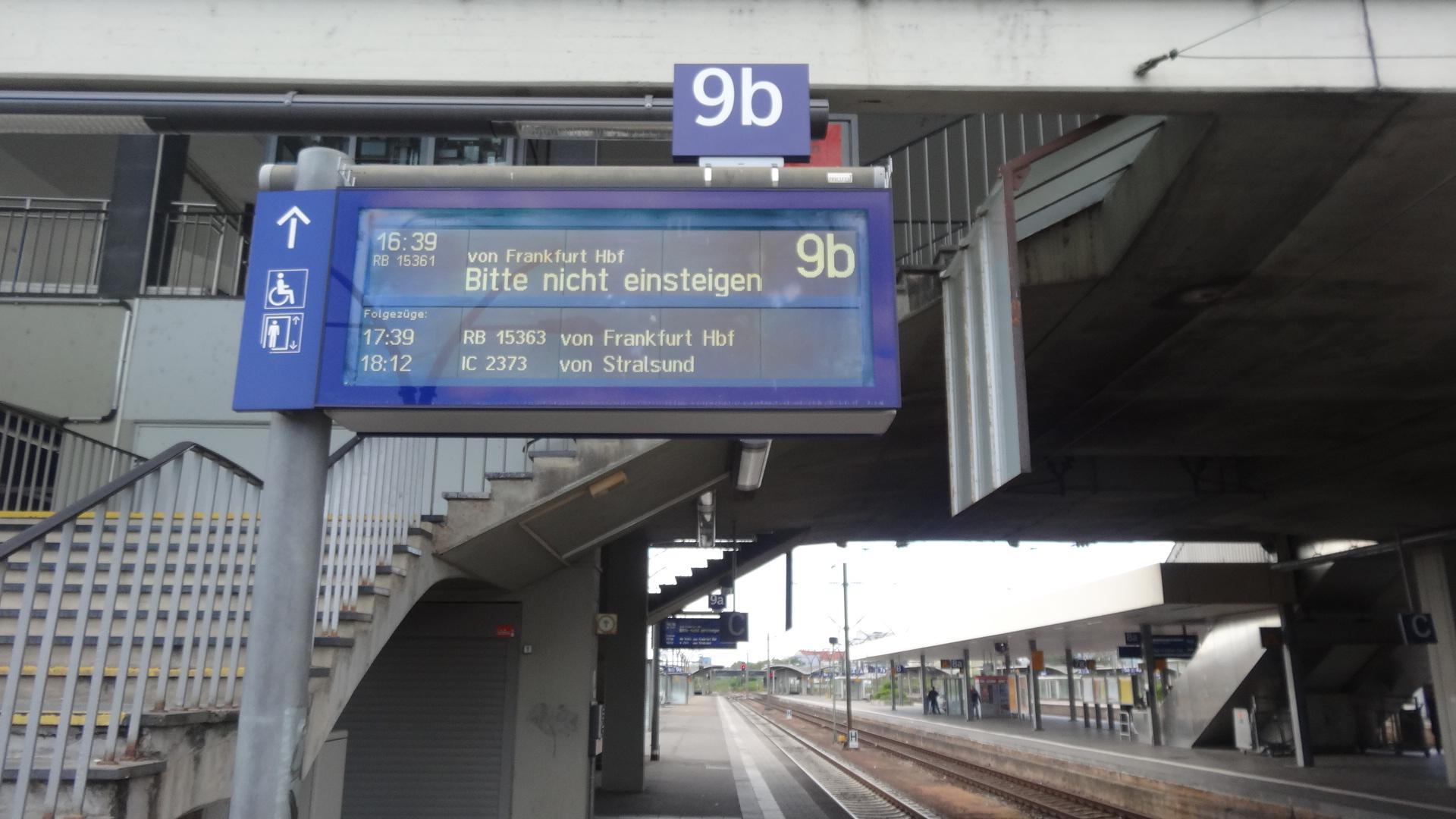 Heidelberg Hbf Richtung Mannheim/Weinheim